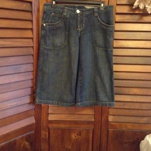 BCBGMAXAZRIA Jean Jillian Wide Leg Trouser Cropped